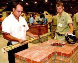 Johnson's masonry students are regulator participants in the annual SkillsUSA  national competition.