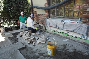 Repairing Stone Patios Over Living Space