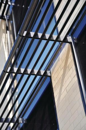 Tubelite now manufactures all of its architectural extruded aluminum products (including storefront, curtain wall, entrance, and daylight control) with EcoLuminum, a high-recycled-content aluminum billet composition developed with environmentally friendly finishes. EcoLuminum requires 95% less energy to produce than standard, nonrecycled billet, and its anodized finish sends 90% less waste to landfills than traditional caustic-etch anodizing. Tubelite formulated EcoLuminums standard billet composition contains a minimum of 80% reclaimed aluminum, with a post-consumer content average of 34%. Paint finishes are also applied and controlled in an environmentally effective manner. ecoluminum.com