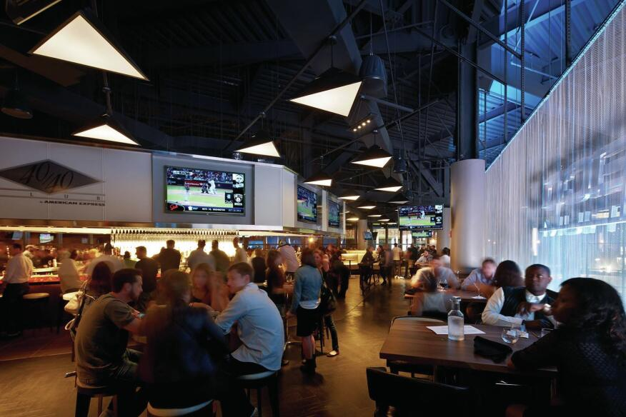 View of the concessions area outside the arena.