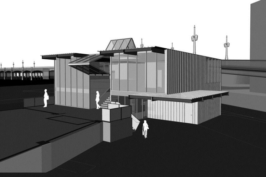 A rendering of the new Magic Box lab.