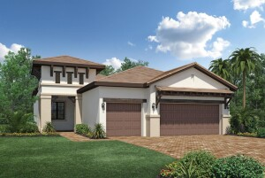 Toll Brothers Cayman Palm Beach model in the Palazzo at Naples community.