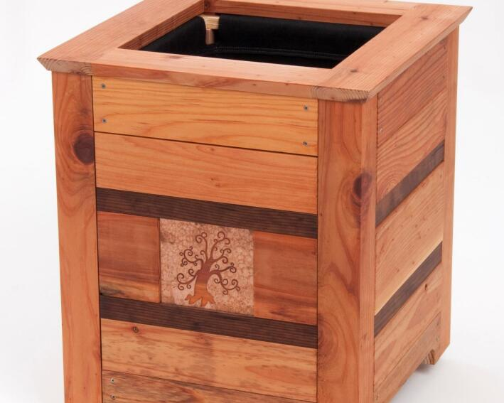 The California Redwood Co. Introduces Reclaimed Planters