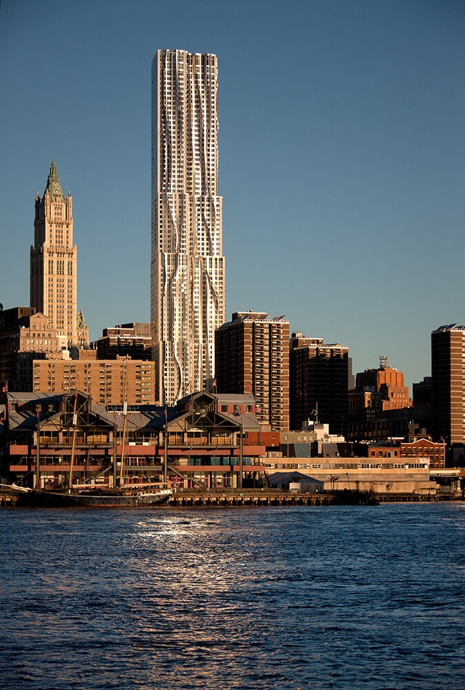 New York by Gehry, Forest City's 76-story residential building in Lower Manhattan.