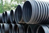 Recycled-HDPE drainage pipe