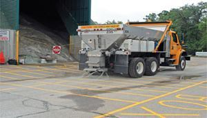 In 2010/11, Farmington Hills, Mich., used 30% less salt — 3,000 tons — compared to the previous five years and saved $135,000. Download a diagram of the Material Application Grid at www.sustainablesaltingsolutions.com. Photo: Mark Cornwell