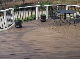 Figure 2. Even a simple bump-out adds interest to a deck.