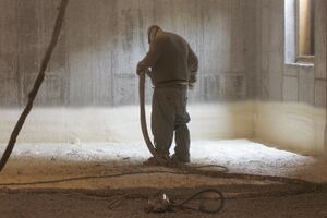 Insulating a Slab With Spray Foam