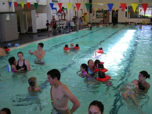 SAFETY FIRST In an effort to make pools safer for young children, many  North American aquatics facilities have implemented policies that assign  color-coded wristbands, or neck bands, to indicate visitors' swimming  ability.