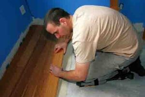 Gluing Wood Flooring to Concrete