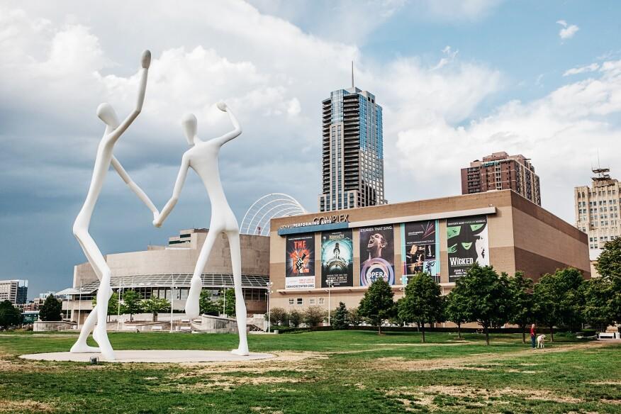 DPAC from sculpture garden
