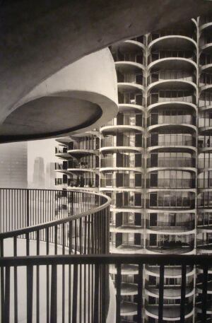 "EXHIBIT    In 1959, when everything was about to change on the north bank of the Chicago River, Bertrand Goldberg presented his plans for Marina City and described it as ""a tremendous sunflower."" Original drawings, photographs, and blueprints for the project are on exhibit and on sale at Chicago's ArchiTech Gallery through Aug. 29.  architechgallery.com     Hannah McCann"