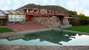 The Reflecting Pool at Taliesin West.