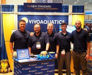 VivoAquatics team: (L-R) Nathan Hernandez, director of aquatic solutions; Bob Garrett, general manager, Nevada; Willan Johnson, CEO; Max Koby, general manager, strategic development; and Jack Peat, director, account development.