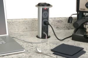 pop-up power outlet | jlc online | countertops, electrical, power
