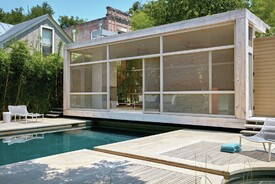 Compact, Poolside Pavilion Blurs Barrier Between Indoors And Out