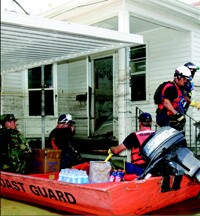 Emergency personnel from all over the country came to the Gulf Coast to help in the rescue efforts.