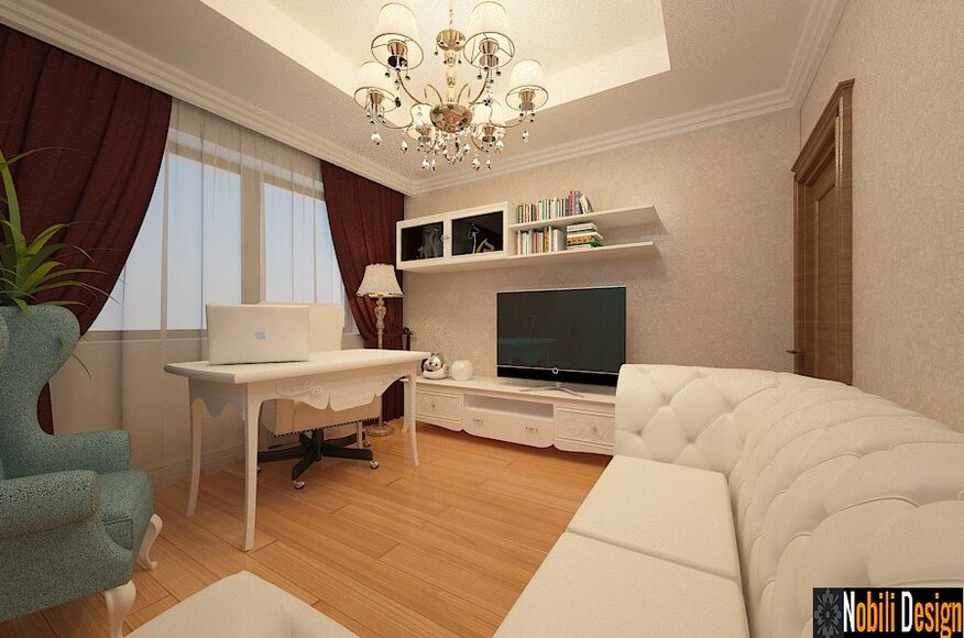 Interior design of a new classic living room architect for A d interior decoration contractor