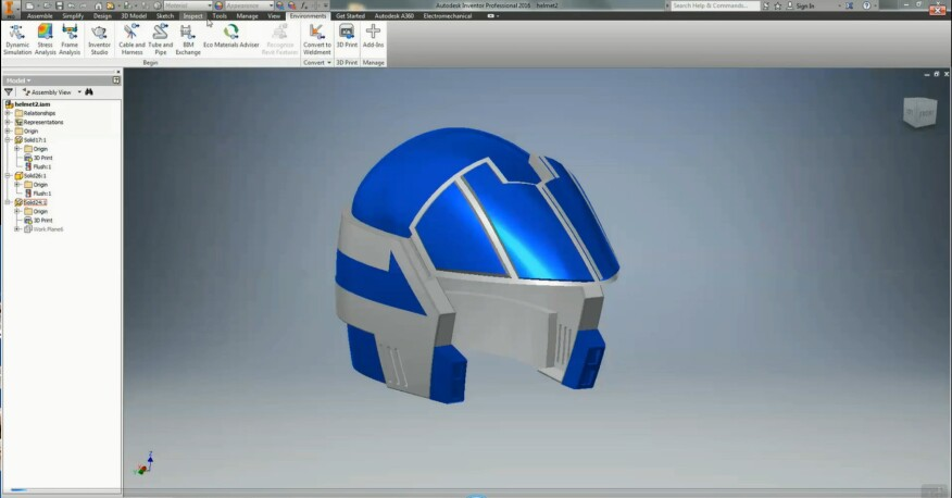 Autodesk Inventor 2016 is one program with which users can 3D print their designs.