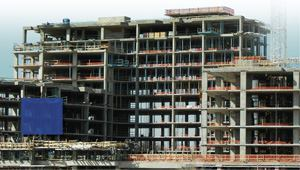 Post-tensioned floors increasingly are being used in high-rise construction.