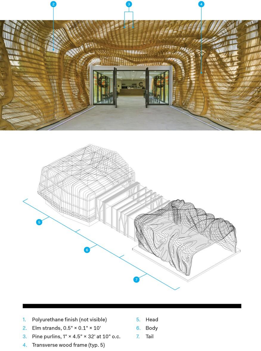 Entry pavilion diagram