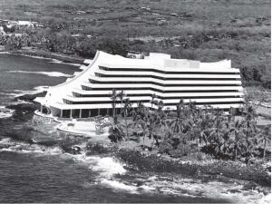 The firm's Kona Hilton, built at Kailua Bay on the Big Island in 1968.