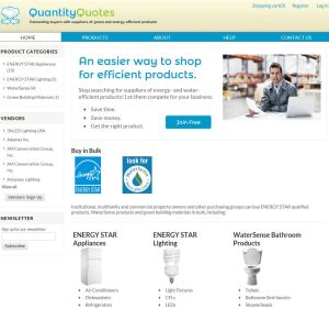 Using Quantity Quotes, bulk buyers can shop for green products, look for specific vendors, and find information about product categories.