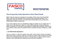 Nine Frequently Asked Questions About Metal Roofs