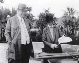 Julia Morgan with William Randolph Hearst.