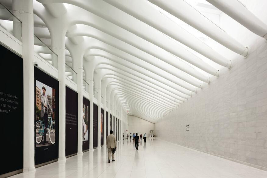 Calatrava's West Concourse of the WTC Transportation Hub