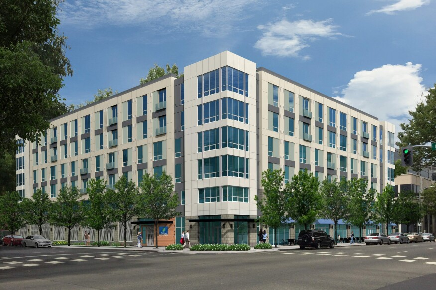 Eviva Midtown, a six-story, 118-unit mixed-use