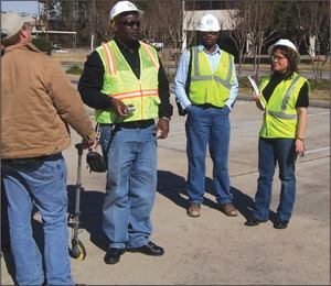 Kerri Todd participates in the Texas Aggregates and Concrete Association's Accident Investigation Training in Houston.