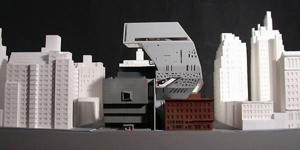 OMA's 2002 proposal for expanding the Whitney at its Upper East Side location.