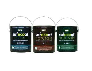 SAFECOAT PAINTS. This company's zero-VOC interior paints—in flat, pearl, eggshell, and semi-gloss—contain no formaldehyde, ammonia, crystalline silica, or ethylene glycol, and are available with zero-VOC colorants. It also makes a Naturals line of organic plant-based finishes. This company's paints are certified SCS Indoor Advantage Gold and have long been used by people with chemical sensitivities. 800.239.0321. www.afmsafecoat.com.