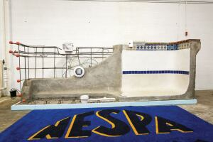 Building a well-educated work force: NESPA's new hands-on concrete pool display, built by Anthony & Sylvan Pools, will familiarize students with components such as rebar, drains, plumbing, tiles, surfaces, coping and more