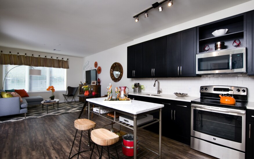 Pedestrian-friendly Modera 44, a mixed-income rental community by Mill Creek Residential, is within walking distance of various shopping, dining, and nightlife venues in downtown Morristown, N.J. The development's kitchens offer quartz countertops and stainless steel, energy-efficient appliances.