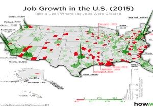 HowMuch.net heat map of job growth.