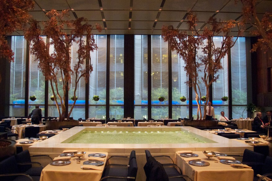 The Pool Room at the Four Seasons restaurant in New York.