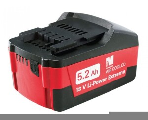 Metabo's Ultra-M 5.2 Ah Battery stores the most power of any 18-volt tool battery currently available.