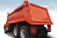 Dump truck for extreme conditions