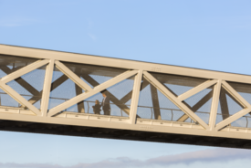 Banker Wire Mesh Outfits New Pedestrian Bridges for Easier Commuting in the Dulles Corridor