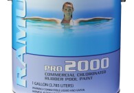 PRO 2000 CHLORINATED RUBBER   Competitively priced and designed for commercial use where pool maintenance is scheduled annually.