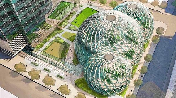 Proposed biodome design for Amazon headquarters.