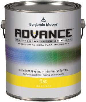 BENJAMIN MOORE. The company's Advance is a waterborne alkyd that cleans up with soap and water. Available as a primer and in satin, semi-gloss, and gloss finishes, Advance forms a hard, scratch-resistant surface that is easy to clean, making it appropriate for cabinets, trim, and other high-use areas. Advance has VOC levels of less than 50 g/l, uses zero-VOC colorants, and is certified MPI X-Green and listed in the CHPS High Performance Products Database. 855.724.6802. www.benjaminmoore.com.