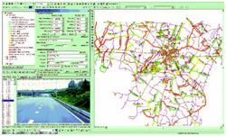 Data from a pavement management system is displayed through a GIS. Photo: EnterInfo.com