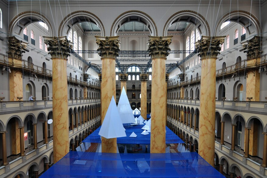 "The ""Icebergs"" exhibition, by James Corner Field Operations, opens at the National Building Museum in Washington, D.C. on July 2."