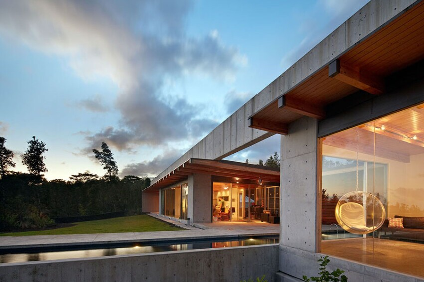 Concrete Home Built on Hawaiian Lava Flow