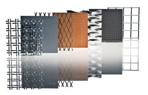 "Armstrong has added nine new patterns to its existing MetalWorks Mesh line of lay-in ceiling tiles. The new patterns, like the rest of the line, can be used in border, cloud, or full-ceiling applications, and are available in seven standard and three premium colors. The tiles measure 2' square and can be installed on a standard 15/16"" suspension system. ¢ armstrong.com"