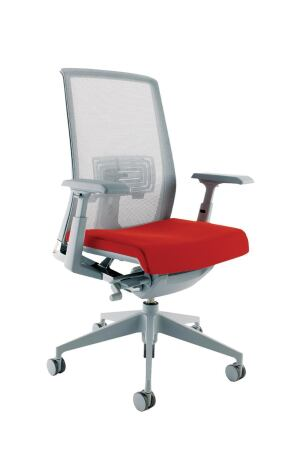 Haworths new task chair, Very Task, boasts a clean, crisp design. Material choice includes seven mesh colors, two trim colors, and a painted, polished, or plastic base. The chair features asymmetrical lumbar support with supporting mesh and arms that can adjust in height and width, as well as move forward, backward, and pivot. The chair is BIFMA-level certified. At the end of its life, Haworth will recycle the chair through its Very take-back program. ¢ haworth.com