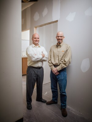Mark Troy and John Brophy of Compass Property Management, Wyoming, Mich.